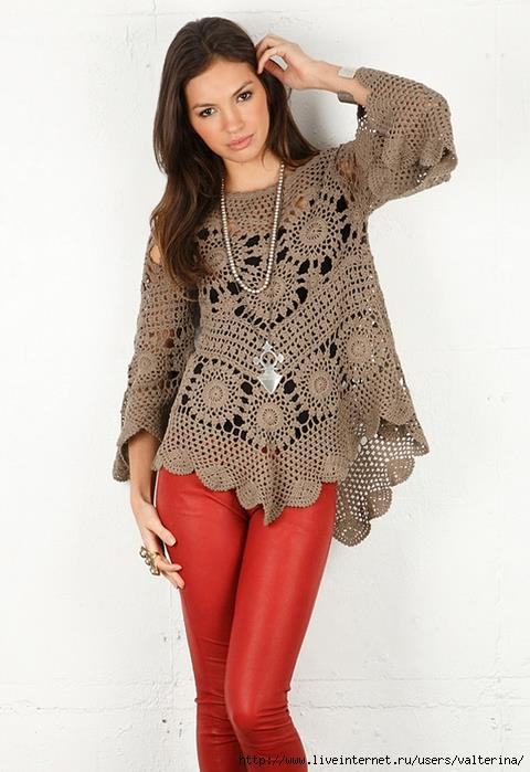 Free Crochet Patterns For Women s Clothing : tipar bluza crosetata Hand Made Macrame